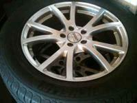 "18"" aftermarket wheels with 255/55/18 Michelin Latitude"