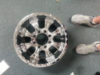 "I have a set of 18"" X 9.5"" chrome Motto rims with an"