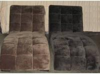 New Armless Chaise Lounge ? Charcoal or Mocha Fabric