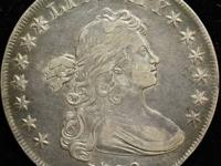 1800 Draped bust $1 AU50 Details cleaned This is an