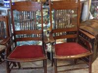 Dynamic set of 6 Antique Mahogany eating chairs from