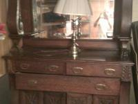 old victorian dresser with mirror. unsure of specific