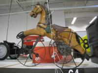 Very cool 1800's Horse Tricycle, cast iron frame.