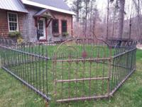 "This is a beautiful ""Hoop & & Spear"" yard fence from"