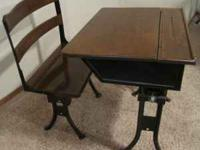 I have For Sale a Old 1800's school desk with