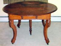 Vintage 5 Leg Oak Dining Room Kitchen Table 1800's Here