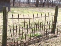 1800's wrouht iron double picket fence. Most secions
