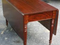 19th. century classical drop leaf table with solid