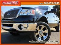 Used 2007 Ford F150 Lariat SuperCrew 4WD Black w/Blk