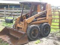 1835C Case Skid steer Loader bucket and fork