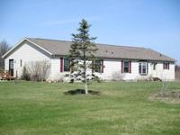 Newer house set off road for personal, country living