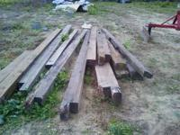 Heart pine Beams .Two are 6x8x14 foot and and have some