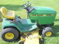 john deere 185 hydro(1990) runs very good,48 inch