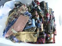 Huge Re-seller Lot of Men's Neck Ties. Approx 185 Ties,
