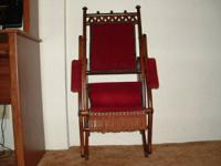 This rocking chair belonged to my great-grandmother.