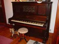 1865 Theatrical Upright Piano, I'm the second owner