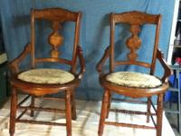 These two chairs were made for my 2nd great grandmother