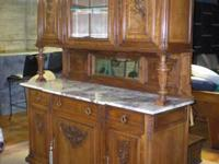 Beautifully carved antique french walnut buffet/server