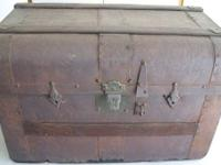 "Really neat smaller antique Trunk. It is only 25"" Long,"
