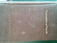 This is a Vintage 1881 New Testament & Psalms Bible.$60