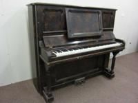 "1885 D. S. Johnston 54"" antique upright piano s/n"