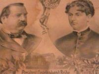 1886 president cleveland and bride lithograph it is 128