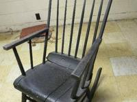 Late 1800s primitive rocking chair, Boston-style.