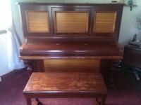 1895 Jacob Brother upright piano with ivory keys all