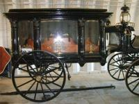 THIS IS A 1800'S HORSE DRAWN FUNERAL HEARSE, WE DO NOT