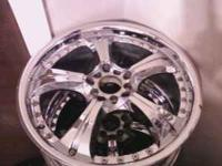 "Set of 18"" chrome rims. they are 5 lug universal. I"