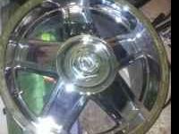 "Have a set of wheels, 18"" chrome without tires 300.00"