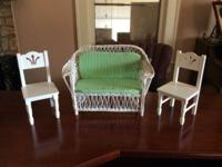 "For Sale: 2 single chairs (fits 18"" dolls such as"