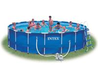 Intex Metal T-Frame Swimming Pool - 18 feet by 48