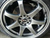 18 Inch XXR Rims, 5x100 and 5x114.3 bolt pattern. about