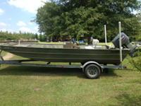 18ft alweld aluminum boat with 115 yamaha 2 stroke