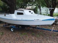 18 ft sailboat on good trailer sold as is No leaks