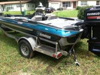 For sale is my 1995 18ft Stratos with a 150 Evinrude V6