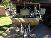 18 ft. flounder boat with a 50HP yamaha motor.  I have