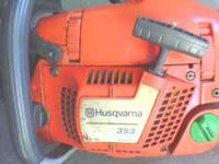 18 inch bar husqvarna model 353 .in very good condition