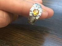 18K Yellow Gold Diamond Ring Size: 5     Or best
