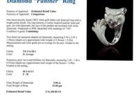 18KT White Gold 5.90ctw Diamond Panther Ring. 18KT