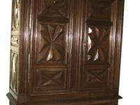 Walnut armoire from Provence, France...typical style