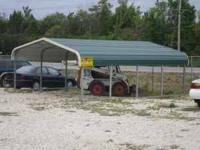 this is a 18X21 carport made for 2 cars, we can have