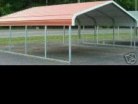"This is a 18x26x8 metal garage, 2 1/4"" tubing, 14"