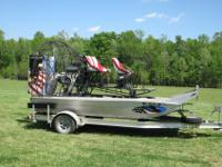 2008 14' #1 Hull WaterThunder Air Boat, LS8 550hp