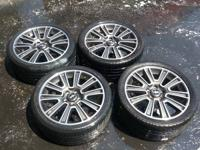 "2012 mustang gt premium rims and tires  19""  1 tire is"