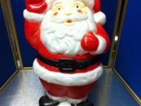 "19"" Blowmold Empire Santa Claus Illuminated Christmas"