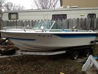 19 ft. 1976 Bonanza includes skis rope, two anchors,