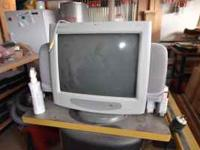 19 inch HP CRT Monitor with speakers. Call for more