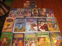 19 VCR videos, most are Walt Disney, titles include